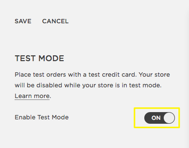 Running test orders – Squarespace Help
