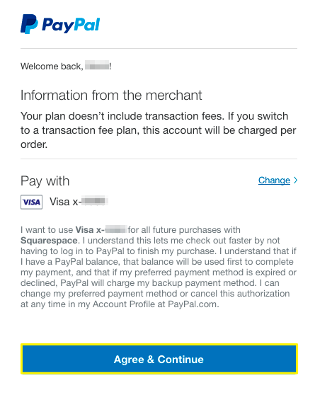 Connecting to PayPal manually – Squarespace Help