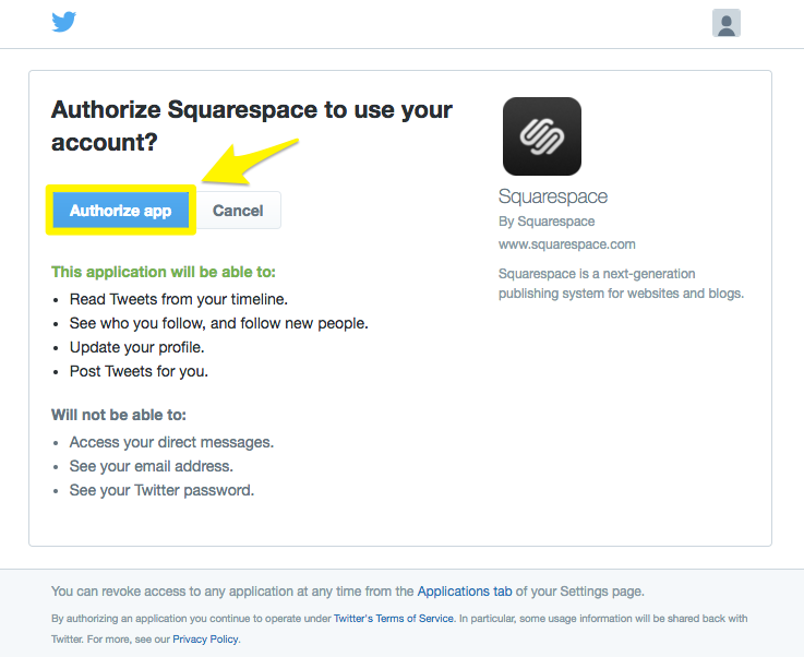 Using The Twitter Block Squarespace Help