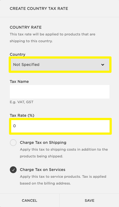 Setting up taxes in squarespace commerce squarespace help taxespanel3g fandeluxe Choice Image