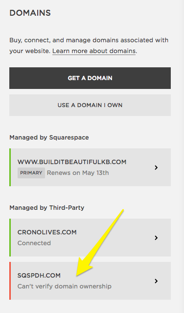Checking your domain mapping records – Squarespace Help