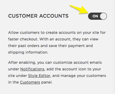 Customer Accounts – Squarespace Help