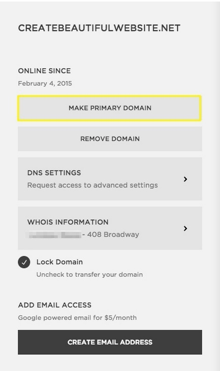 Setting a primary domain – Squarespace Help