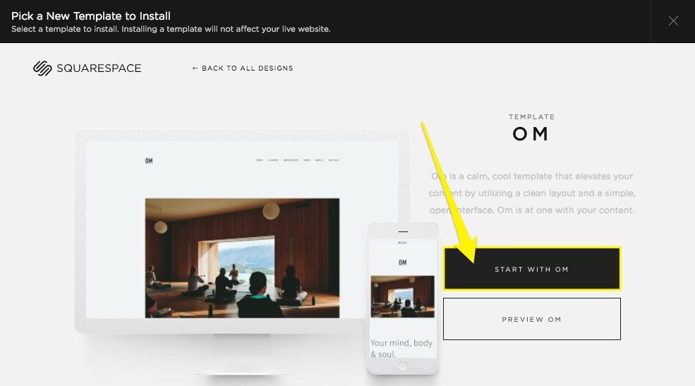 Switching templates faq squarespace help for Best squarespace template for video