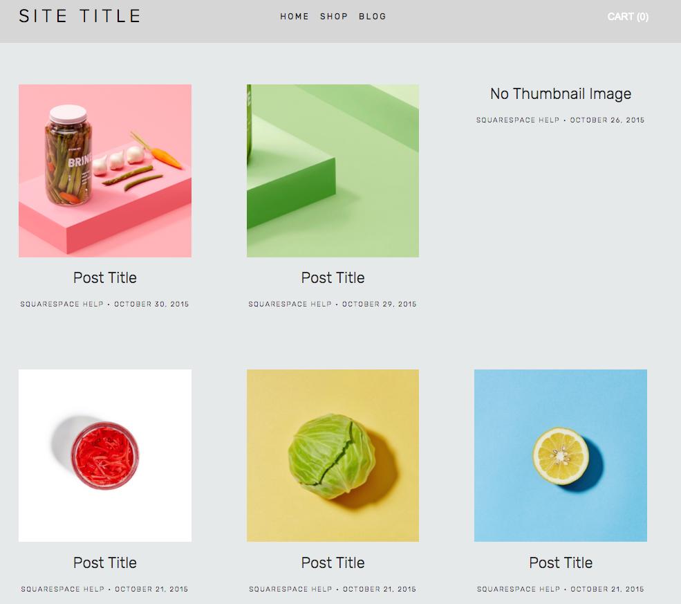 Standard Gridlist Blog Pages Squarespace Help