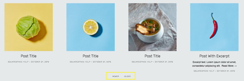 Standard grid/list Blog Pages – Squarespace Help