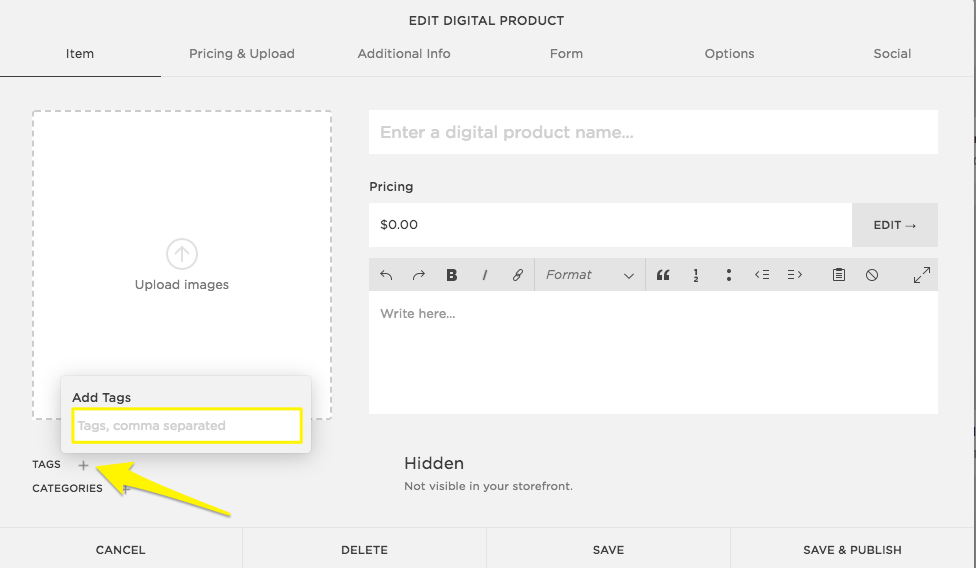 Digital products – Squarespace Help
