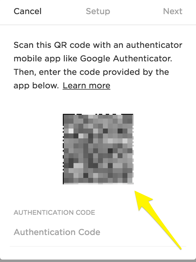 Protect your account with two-factor authentication