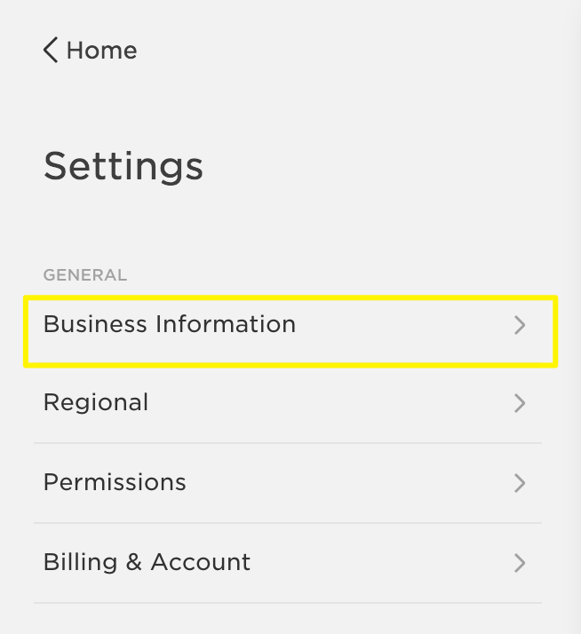 Business information settings squarespace help businessinformationg reheart Images