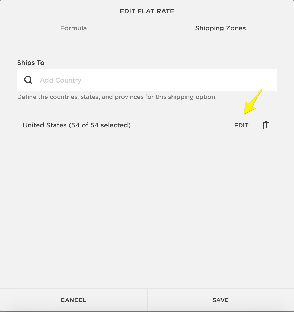 Creating shipping zones – Squarespace Help