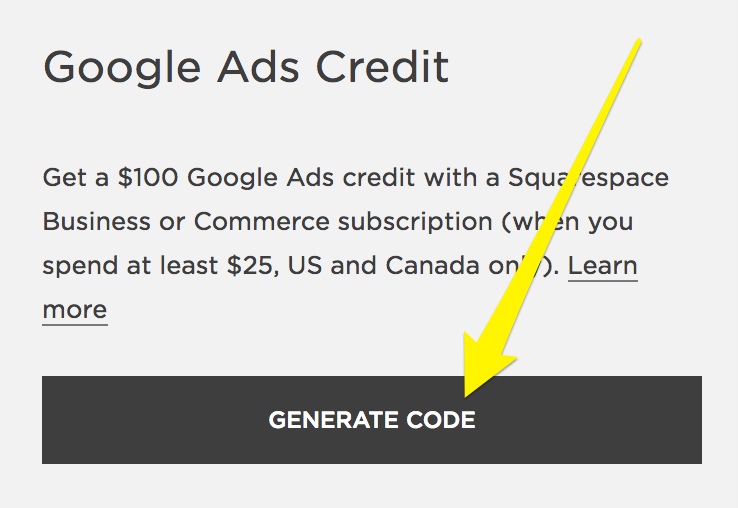 Redeeming your Google Ads credit – Squarespace Help
