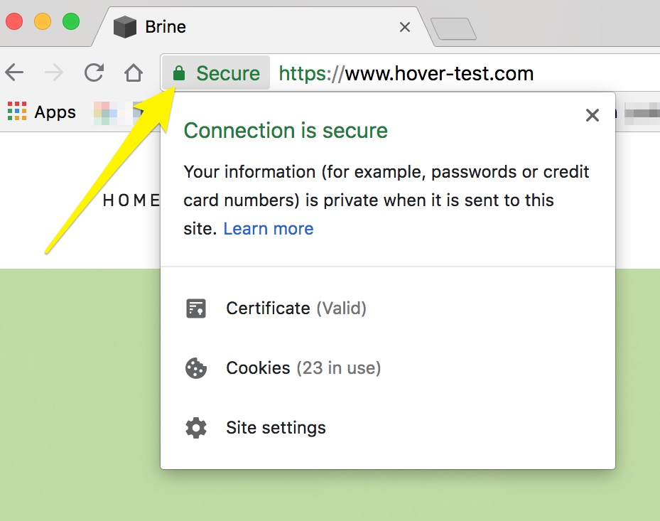 certificat SSL chrome