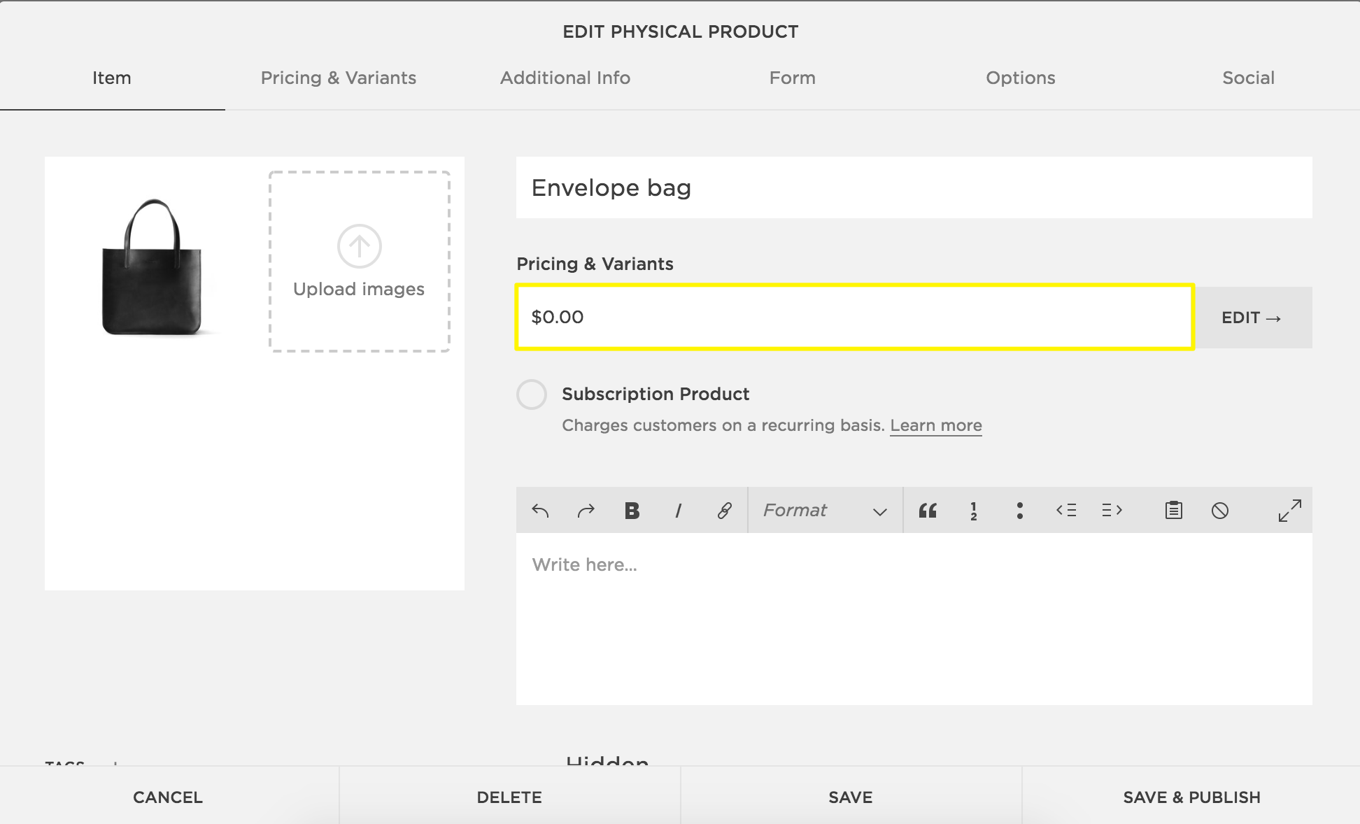 Adding products to your store – Squarespace Help