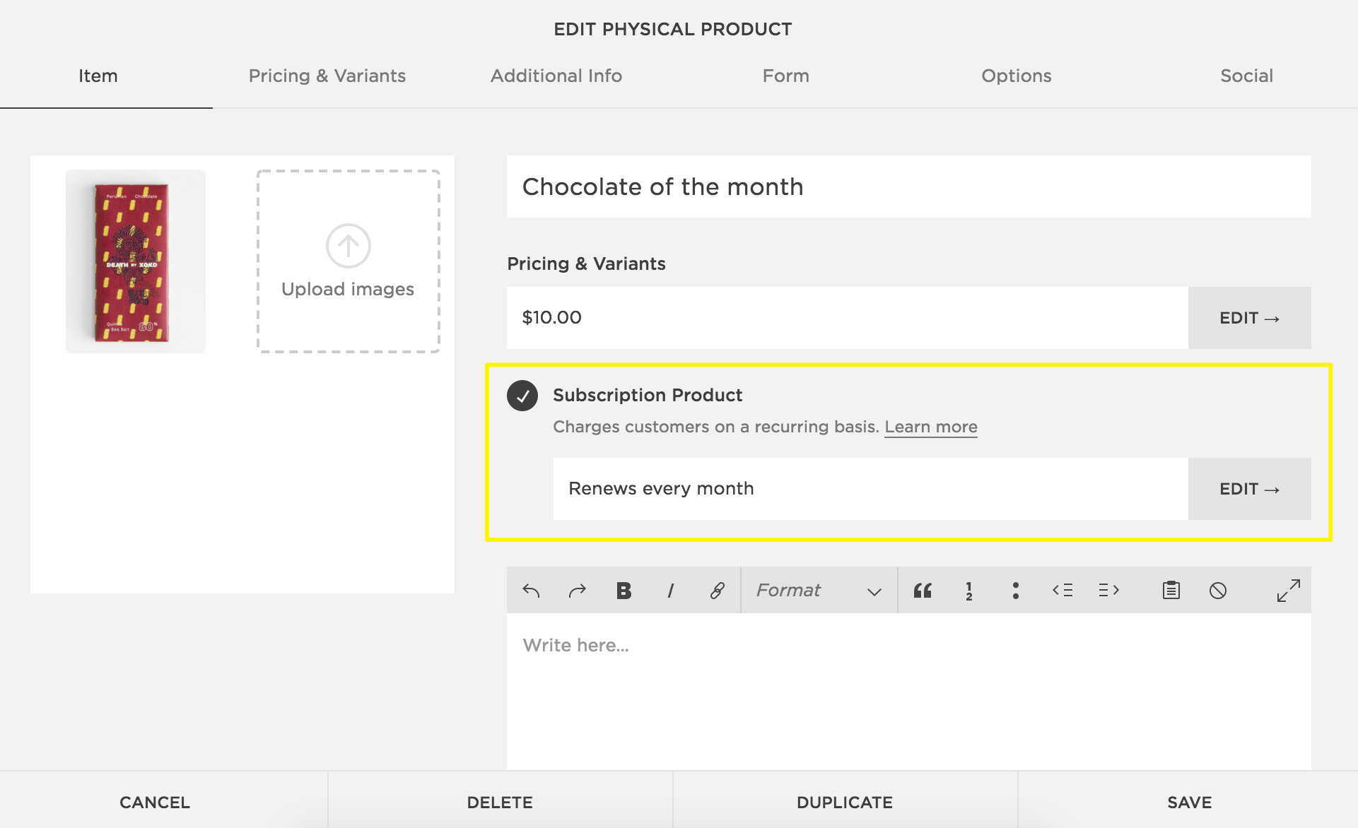Physical products – Squarespace Help