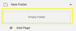 Drag existing pages into the space below the folder.