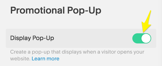 Creating a Promotional Pop-Up – Squarespace Help