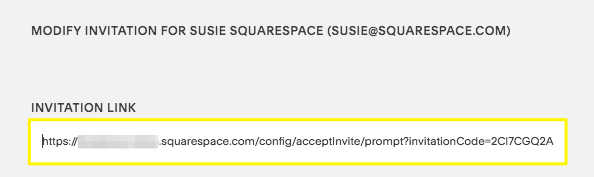 The invitation link appears when you click on the contributor information under Invites Sent.