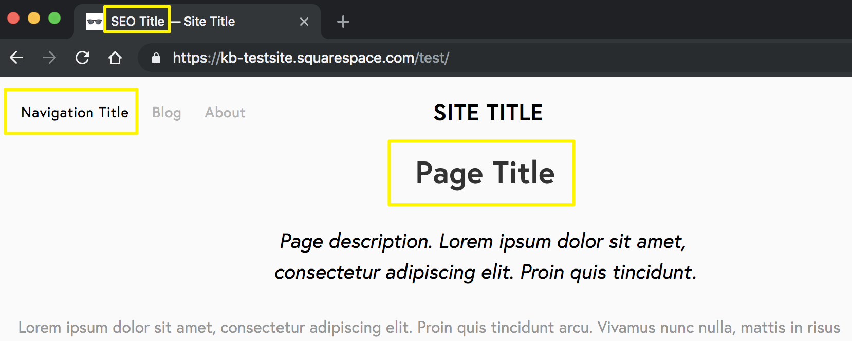 Editing page titles – Squarespace Help