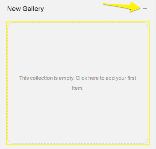 Methods of adding images to a Gallery Page.
