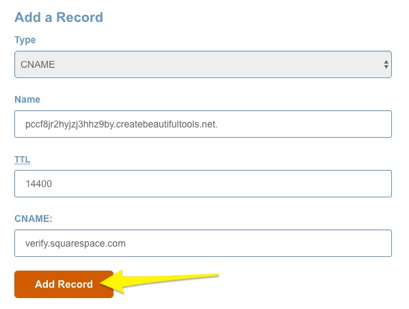 primer registro cname en hostgator