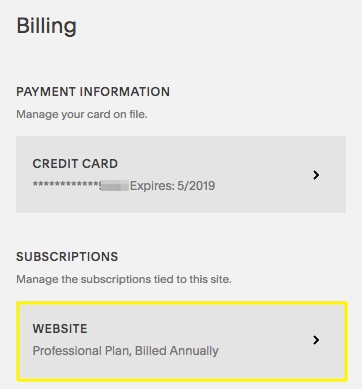 Cancelling a website subscription – Squarespace Help