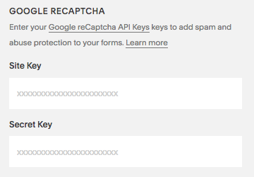 Adding Google reCAPTCHA to Form Blocks – Squarespace Help