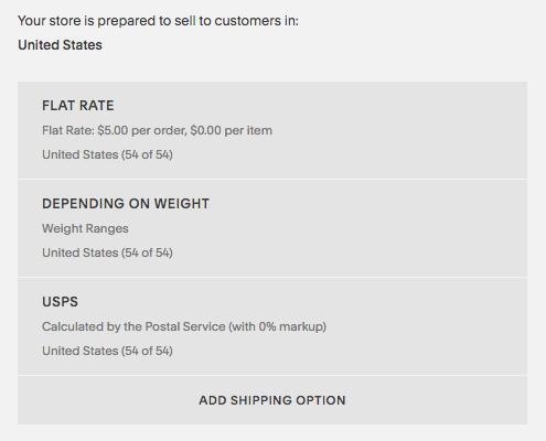 Cómo aparecen las tarifas de envío en el panel Envío.