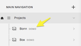 The Demo label appears next to demo pages in the Pages panel.
