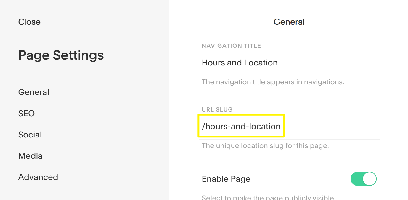 Adding Index Page anchor links – Squarespace Help