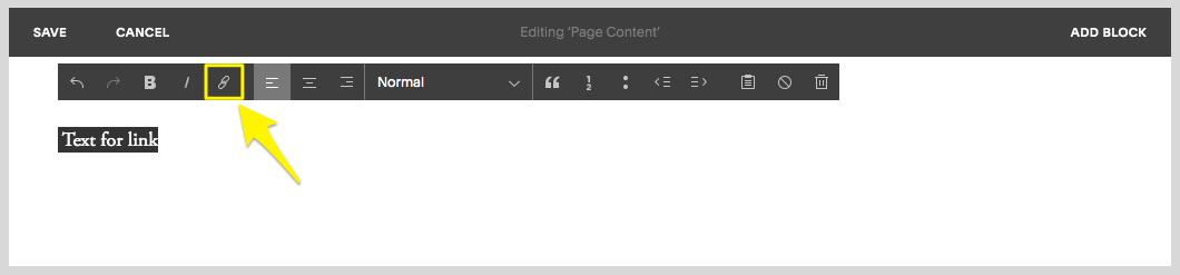 Creating text links – Squarespace Help
