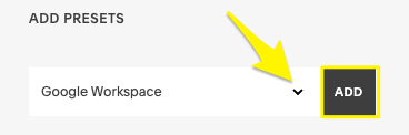 Record preimpostati per Google Workspace