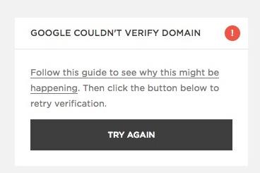 Google non è in grado di verificare il tuo dominio