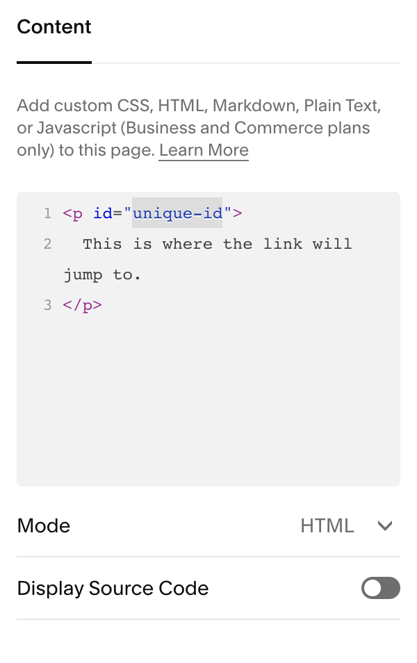 The_unique_ID_of_an_anchor_link_added_to_a_Code_Block.png