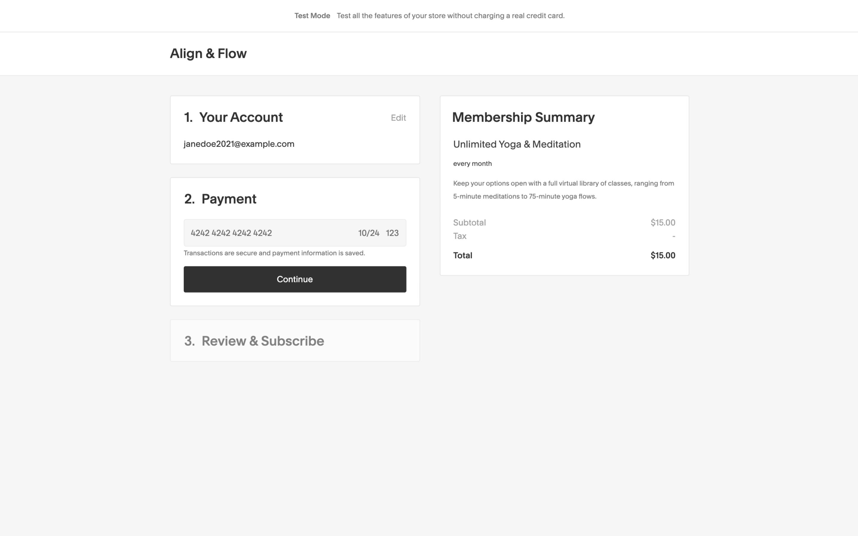 procedura di pagamento area membri 1