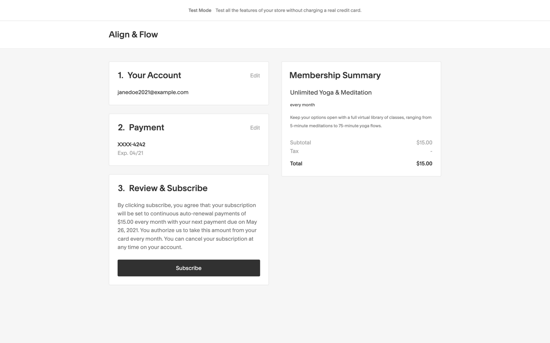 procedura di pagamento area membri 2