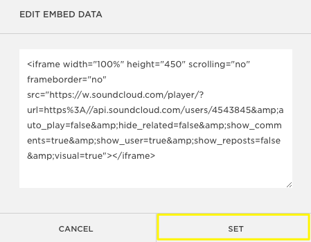 Click The Embed Tab On SoundCloud Track Scroll Down And More Options Then Check Enable Automatic Play Add This Version Of Code To Edit