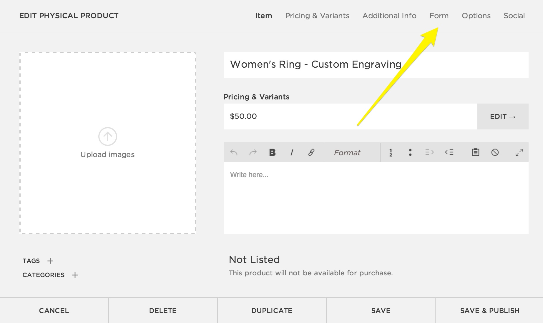 Step 2   Create A New Form  Customer Contact Information Form