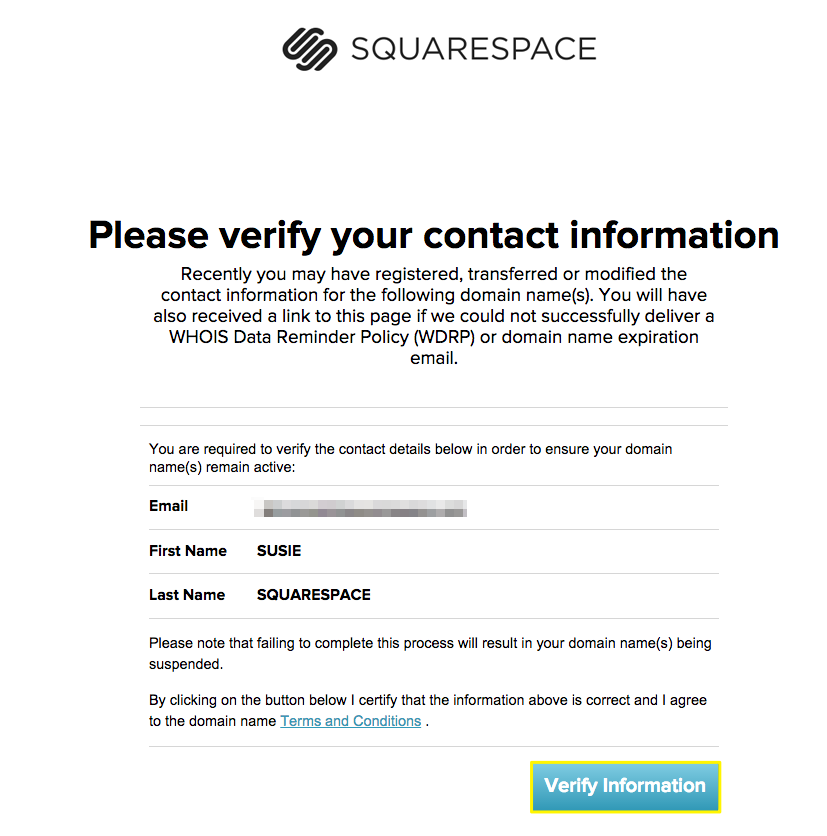 managing domain contact information squarespace help