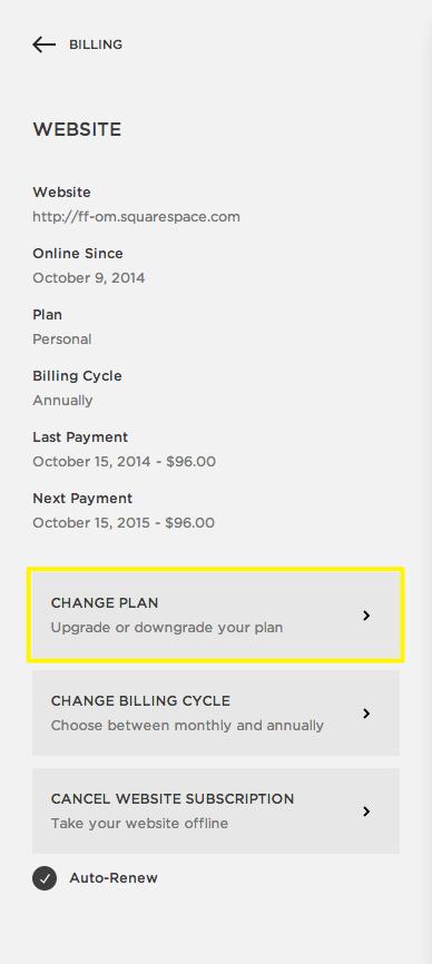 click change plan