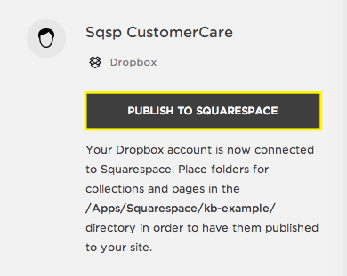 Connecting Dropbox to Squarespace – Squarespace Help