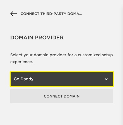 Squarespace Help  Connecting a GoDaddy domain to your Squarespace