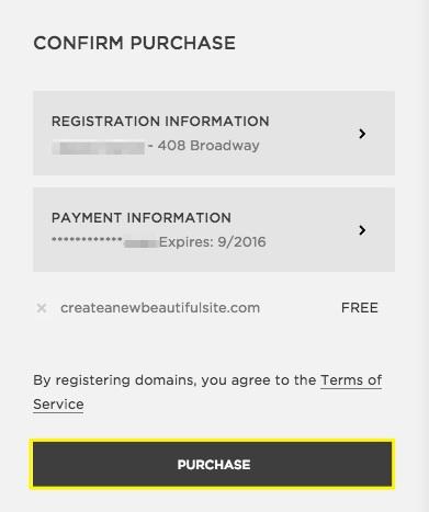 Squarespace Domains registrieren – Squarespace