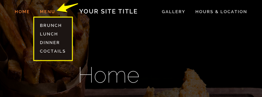 building a restaurant site squarespace help