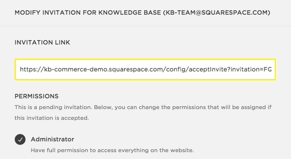 Inviting a contributor squarespace help if they still arent receiving the email you can click their contributor profile under invites sent and copy the invitation link stopboris Images