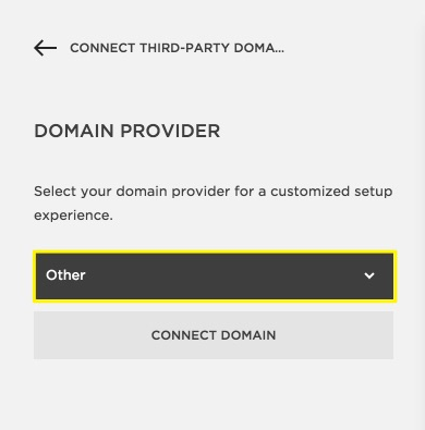 And You May Even See GoDaddy Auto Populate After Adding Your Domain Should Still Choose Other To Complete This Manual Connection