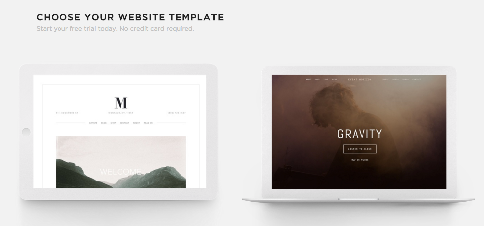 choosing the right template squarespace help