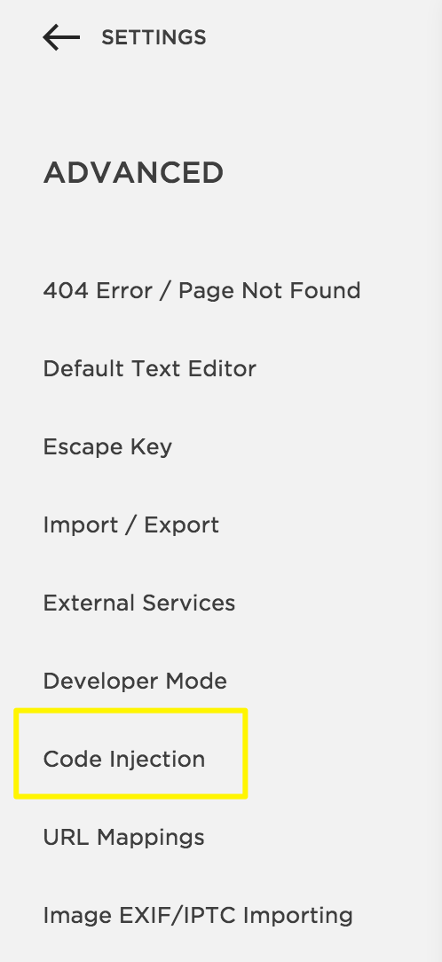 Squarespace Help Using Code Injection - Free find us map header
