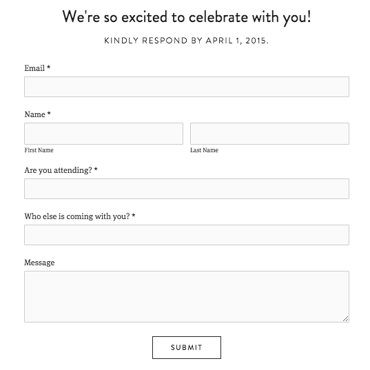 Squarespace Help Building a wedding site – Event Guest List Template