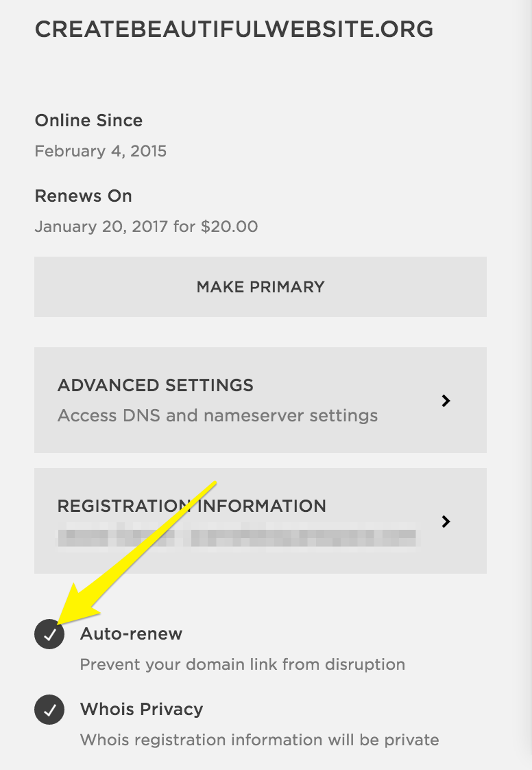 Squarespace Domain Renewals And Expiration Help Automatic Mains Disconnect Click Disable Auto Renew To Confirm
