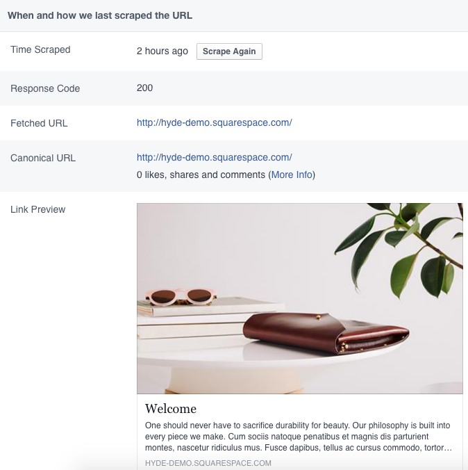 Troubleshooting Facebook sharing issues – Squarespace Help